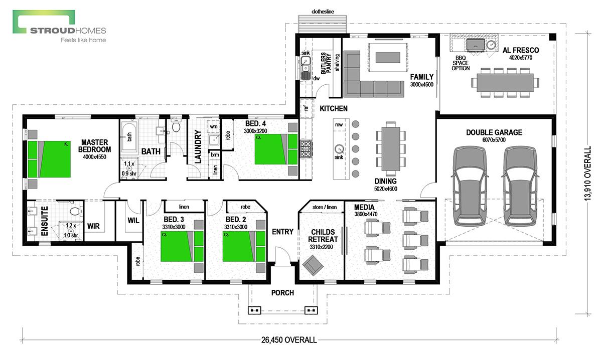 Oakleigh 258 Classic Floor Plan