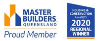 Stroud Homes Wide Bay Master Builders Association – Regional Award Winner – Individual Home Up To $250,000 award logo